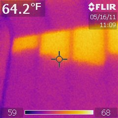 Thermal Imaging detects missing insulation