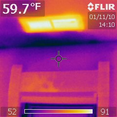 Thermal Imaging detects cold air infiltration